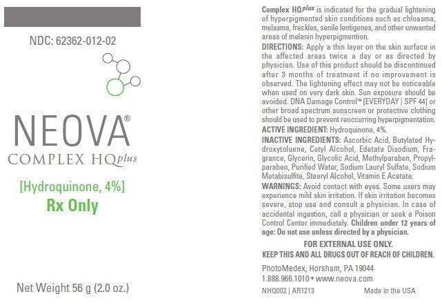 Neova Complex Hq Plus (Hydroquinone) Emulsion [Photomedex, Inc.]