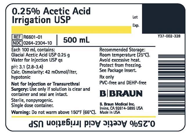R6601-01 500 mL container label
