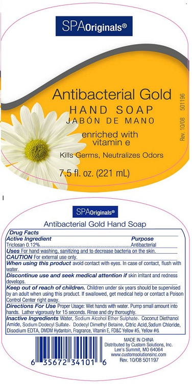 Spa Originals Antibacterial Gold Hand (Triclosan) Soap [Custom Solutions, Inc]