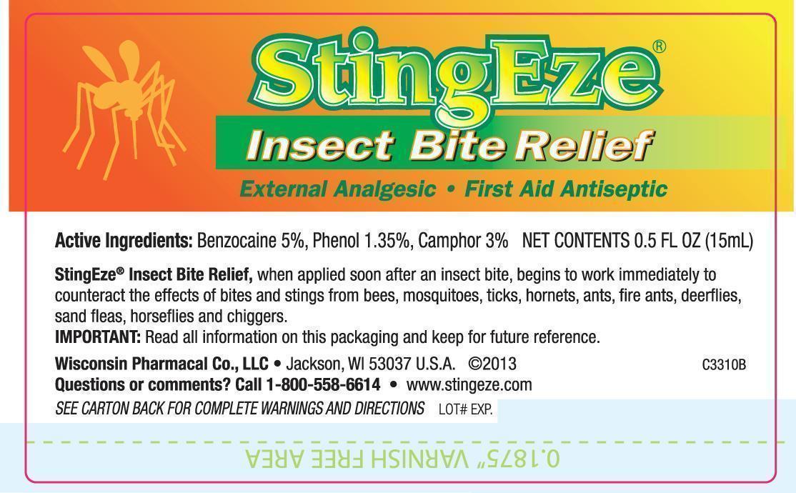 Stingeze Insect Bite Relief (Benzocaine, Phenol, Camphor) Liquid [Wisconsin Pharmacal Company]