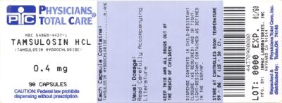 PRINCIPAL DISPLAY PANEL - 0.4 mg Capsule Bottle Label