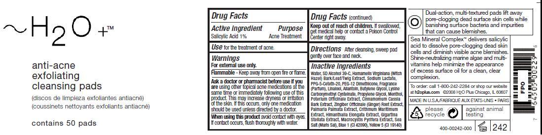 Anti Acne Exfoliating Cleansing Pads (Salicylic Acid) Swab [H2o Plus]