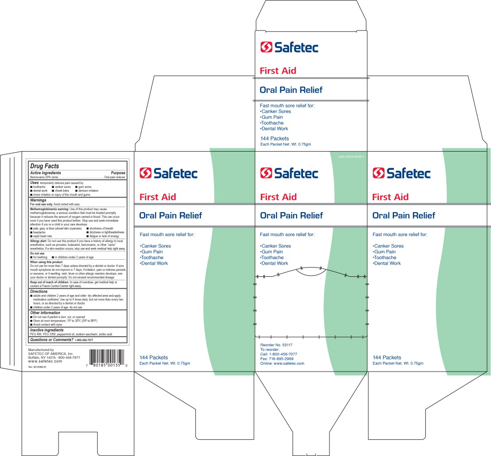 Principal Display Panel - Safetec Oral Pain Relief Carton Label