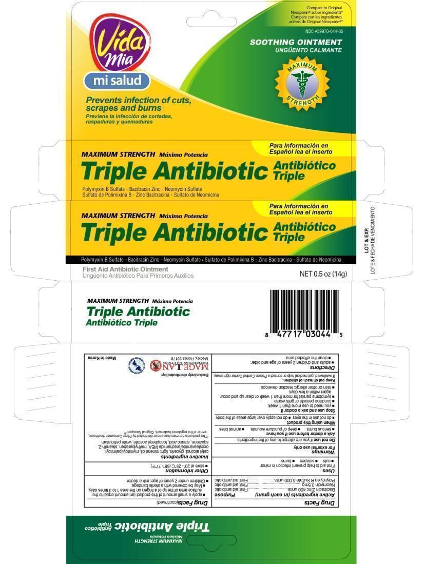Triple Antibiotic (Bacitracin Zinc, Neomycin Sulfate, Polymyxin B) Ointment [Navarro Discount Pharmacies,llc]
