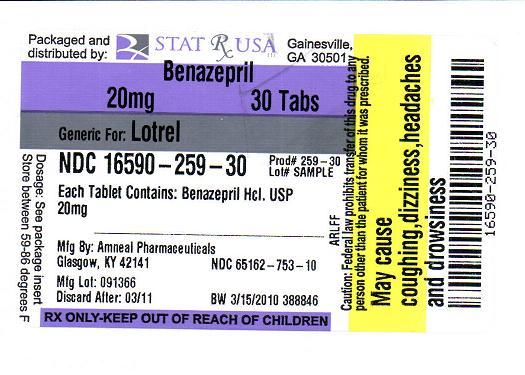 BENAZEPRIL 20MG LABEL