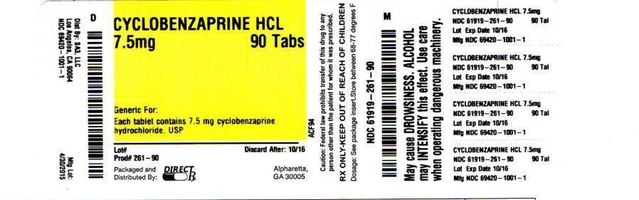 Cyclobenzaprine Hydrochloride Tablet, Film Coated [Direct Rx]