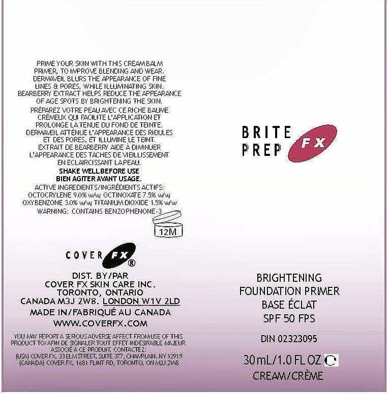 Briteprep Fx (Octocrylene, Octinoxate, Oxybenzone,titanium Dioxide ) Cream [Cover Fx Skin Care, Inc.]