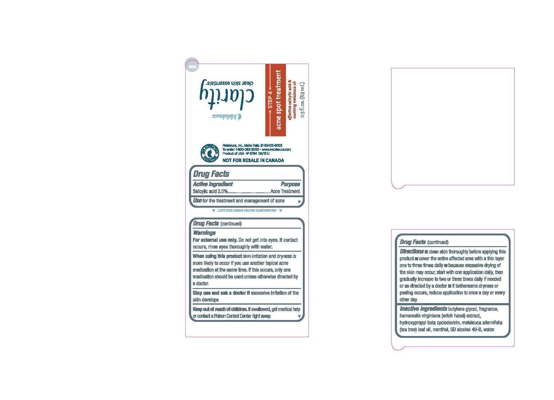 Clarity Clear Skin Essentials Acne Spot Treatment (Salicylic Acid) Cream [Melaleuca Inc.]