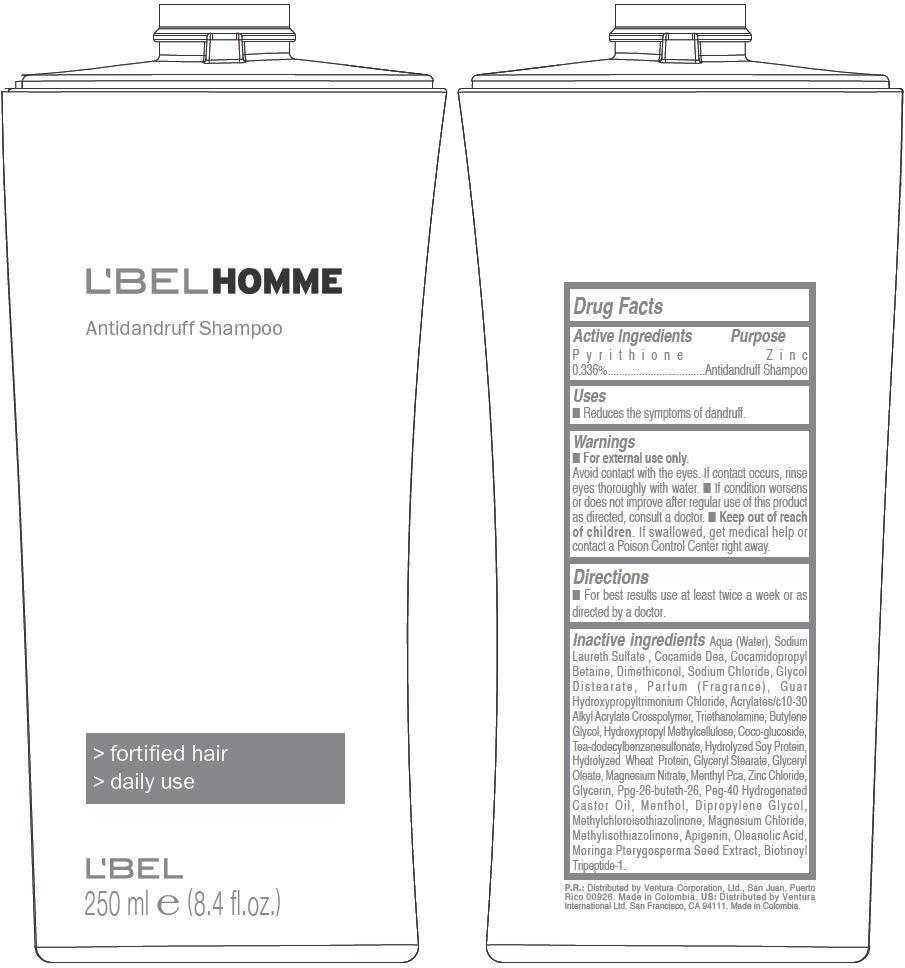 Lbel Homme Antidandruff (Pyrithione Zinc) Shampoo [Ventura Corporation Ltd]