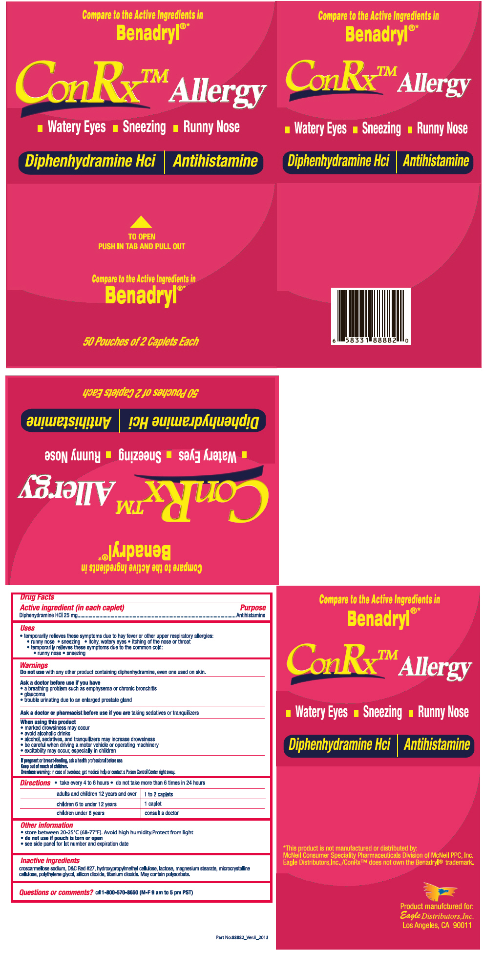 Conrx Allergy (Diphenhydramine Hydrochloride) Tablet [Eagle Distributors,inc.]