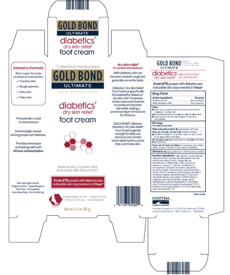 Gold Bond Ultimate Diabetics (Dimethicone And White Petrolatum) Cream [Chattem, Inc.]