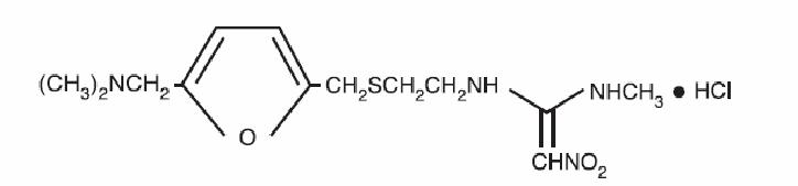 Ranitidine Hydrochloride Structural Formula
