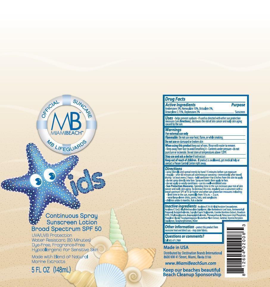 Bli Holding Miami Beach Kids Spf 50 (Avobenzone, Homosalate, Octisalate, Octocrylene And Oxybenzone) Aerosol, Spray [Prime Packaging, Inc.]