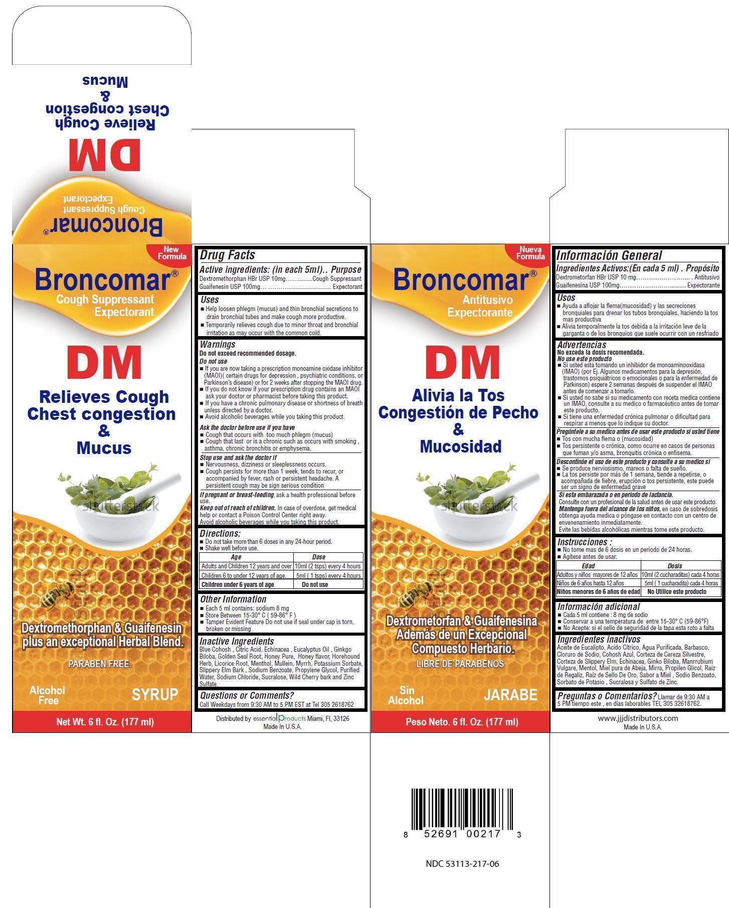 Broncomar Dm (Dextromethorphan Hbr, Guaifenesin) Liquid [Gadal Laboratories Inc]