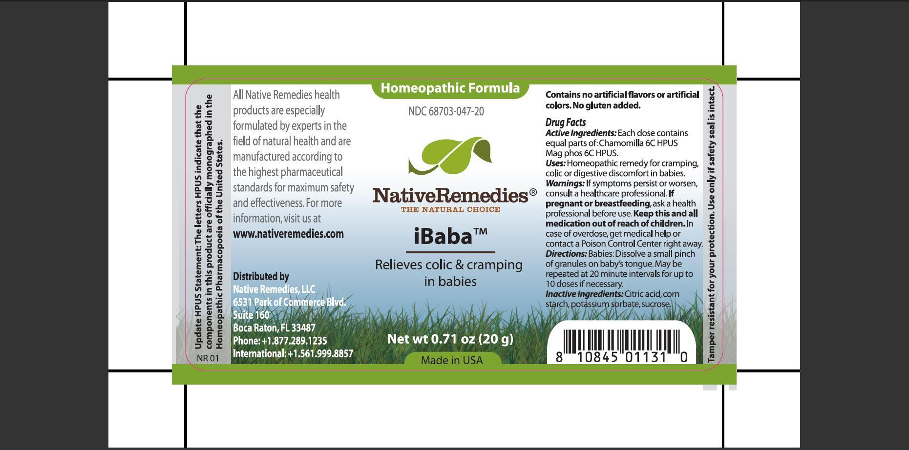Ibaba (Chamomilla, Mag Phos) Granule [Native Remedies, Llc]