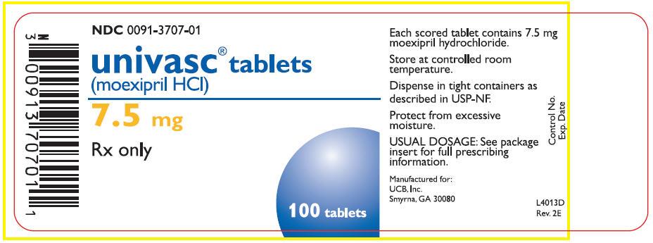 7.5 mg Tablets Bottle Label