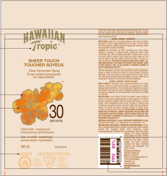 PRINCIPAL DISPLAY PANEL Hawaiian Tropic Sheer Touch SPF 30