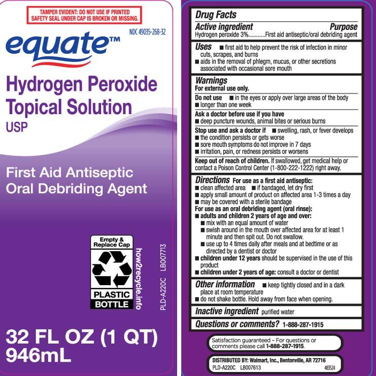 Hydrogen Peroxide 3 Percent (Hydrogen Peroxide) Liquid [Equate (Walmart Stores, Inc.)]