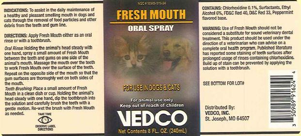 Fresh Mouth (Chlorhexidine) Spray [Vedco, Inc]