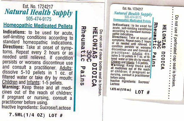 Rheumatic Pains (Chamaelirium Luteum Root) Pellet [Natural Health Supply]
