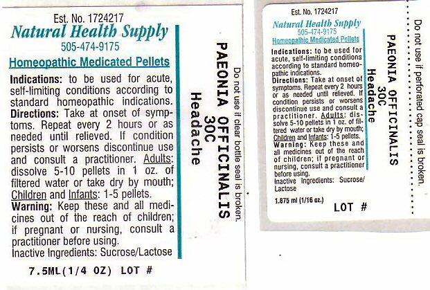 Headache (Paeonia Officinalis Root) Pellet [Natural Health Supply]