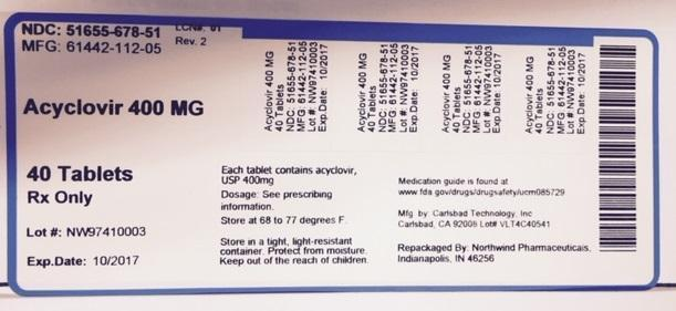 Acyclovir Tablet [Northwind Pharmaceuticals, Llc]