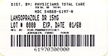 Lansoprazole Delayed-Release Capsules USP 15 mg Label
