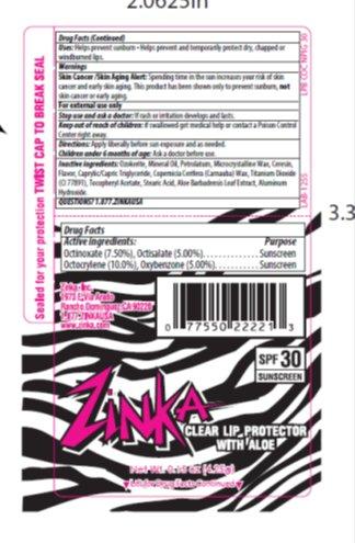 Zinka Lip Protector Spf 30 Lip Balm (Octinoxate, Octisalate, Octocrylene, Oxybenzone) Stick [Zinka]