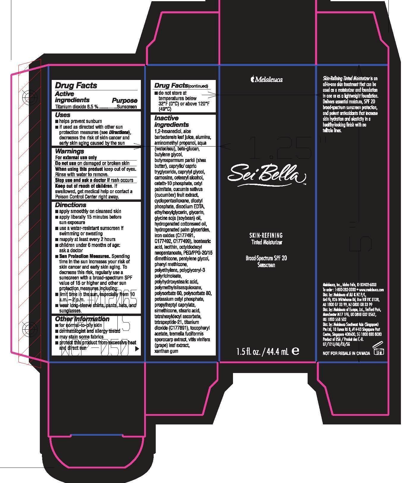 Sei Bella Skin Refining Tinted Moisturizer Procelain (Titanium Dioxide) Lotion [Melaleuca Inc.]