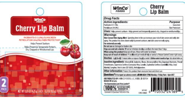 Winco Cherry Spf 4 Lip Balm (Padimate O, Petrolatum) Stick [Winco]