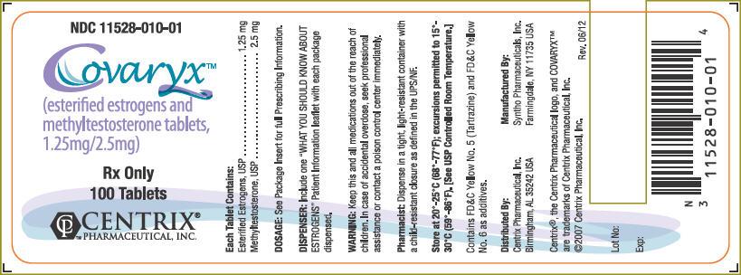 Covaryx (Estrogens, Esterified And Methyltestosterone) Tablet, Coated Covaryx Hs (Estrogens, Esterified And Methyltestosterone) Tablet, Coated [Centrix Pharmaceutical, Inc,]