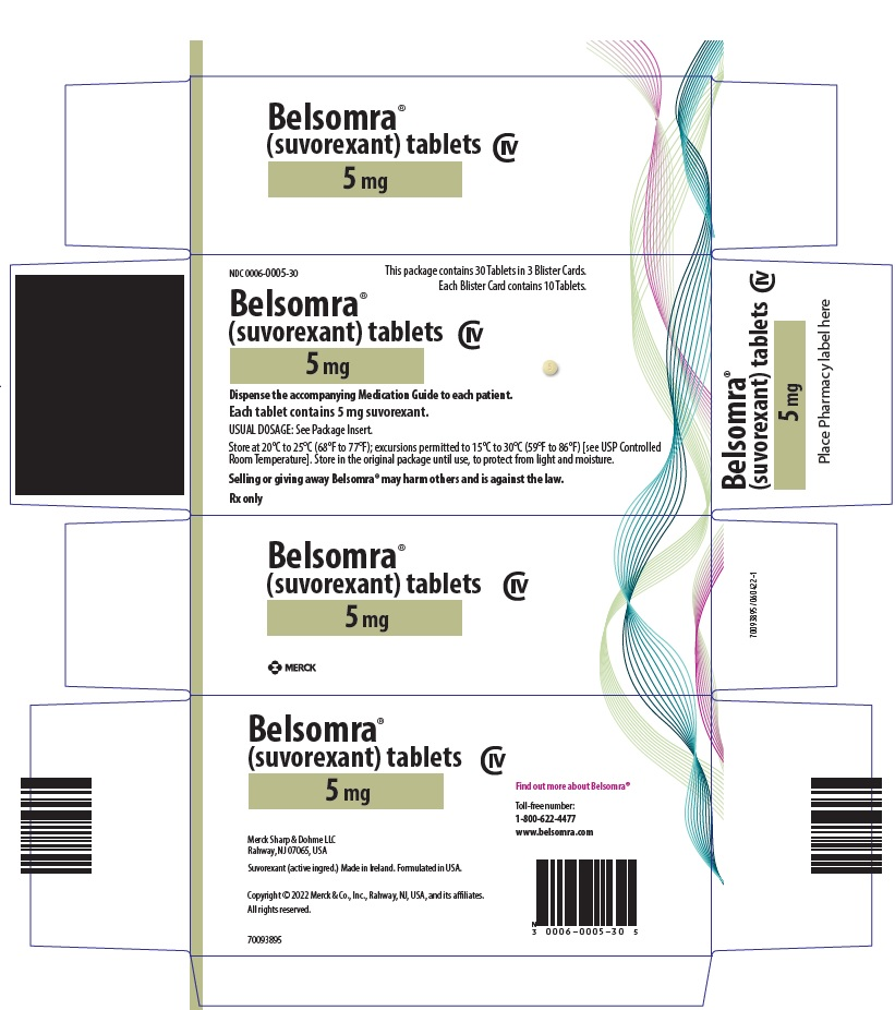 Belsomra (Suvorexant) Tablet, Film Coated [Merck Sharp & Dohme Corp.]