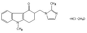 Ondansetron HCl Structural Formula