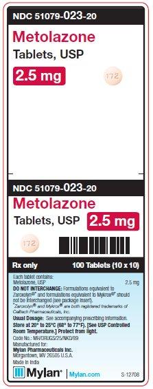 Metolazone Tablet [Mylan Institutional Inc.]