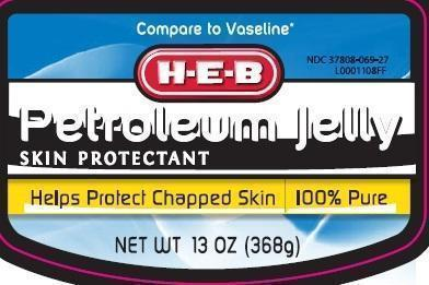 Petroleum Skin Protectant (White Petrolatum) Jelly [H E B]
