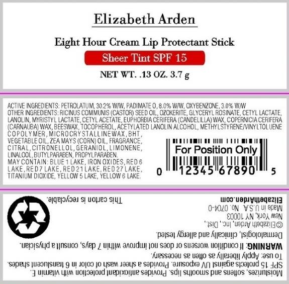 Eight Hour Cream Lip Protectant Sheer Tint Spf 15 Honey (Petrolatum) Stick [Elizabeth Arden, Inc]