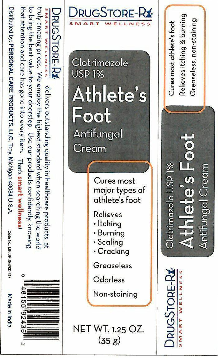 Athletes Foot Antifungal Antifungal (Clotrimazole) Cream [Personal Care Products, Inc.]
