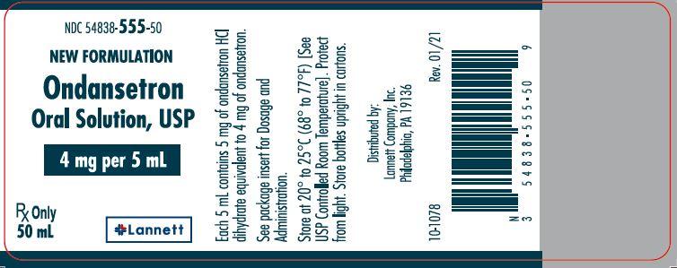 4 mg per 5 mL 50 mL bottle label