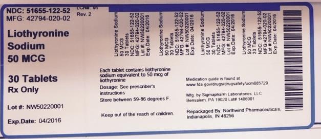 Liothyronine Sodium Tablet [Northwind Pharmaceuticals]