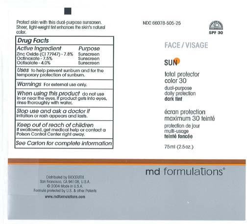 Sun Total Protector Color 30 Dark Tint Cream [Md Formulations]