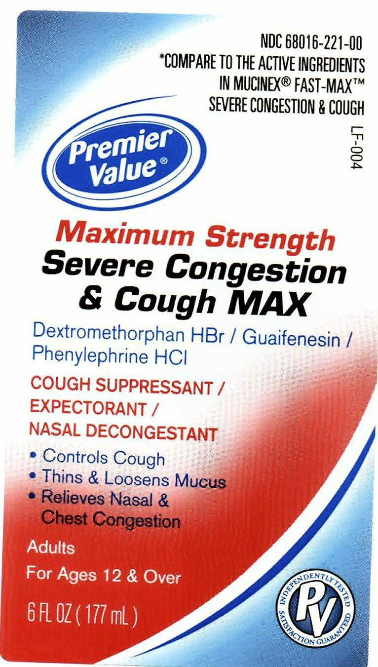 Severe Congestion And Cough Max Maxium Strength (Dextromethorphan Hydrobromide, Guaifenesin, Phenylephrine Hydrochloride) Liquid [Chain Drug Consortium, Llc]