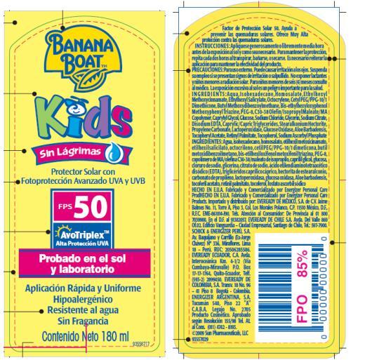 PRINCIPAL DISPLAY PANEL Banana Boat Kids Sin Lagrimas Pump Spray SPF 50