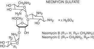 image of neomycin sulfate chemical structure