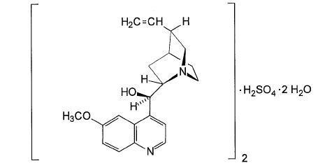 quinine sulfate structural formula