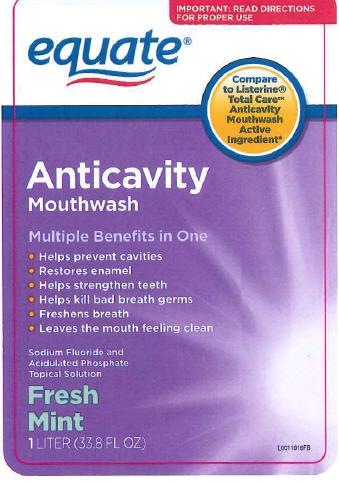 Anticavity (Sodium Fluoride) Mouthwash [Wal-mart]