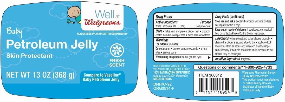 Baby Petroleum (Petrolatum) Jelly [Walgreen Company]
