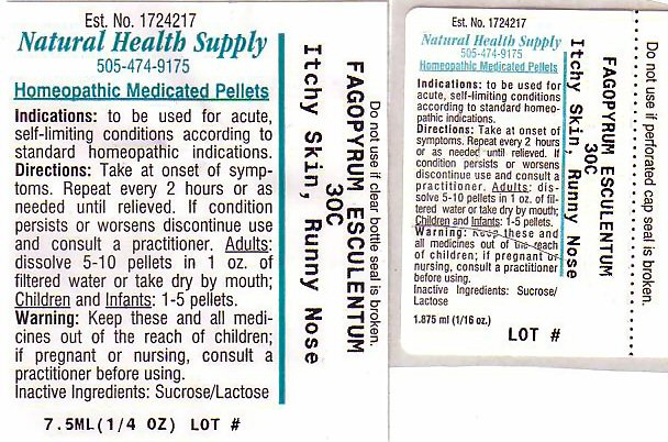 Itchy Skin Runny Nose (Fagopyrum Esculentum) Pellet [Natural Health Supply]