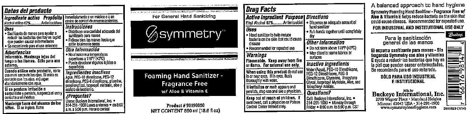 Symmetry Foaming Hand Sanitizer Fragrance Free With Aloe And Vitamin E (Ethyl Alcohol) Liquid [Project, Inc.]