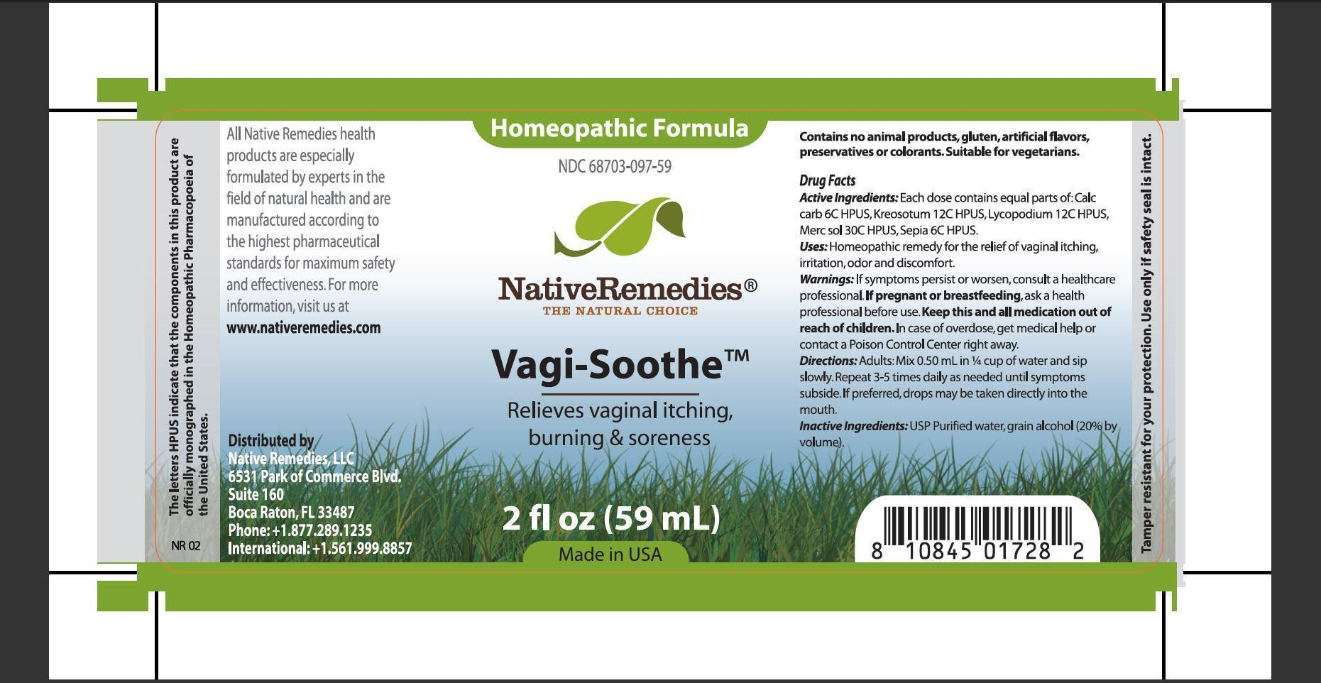 Vagi-soothe (Calc Carb, Kreosotum, Lycopodium, Merc Sol, Sepia) Tincture [Native Remedies, Llc]