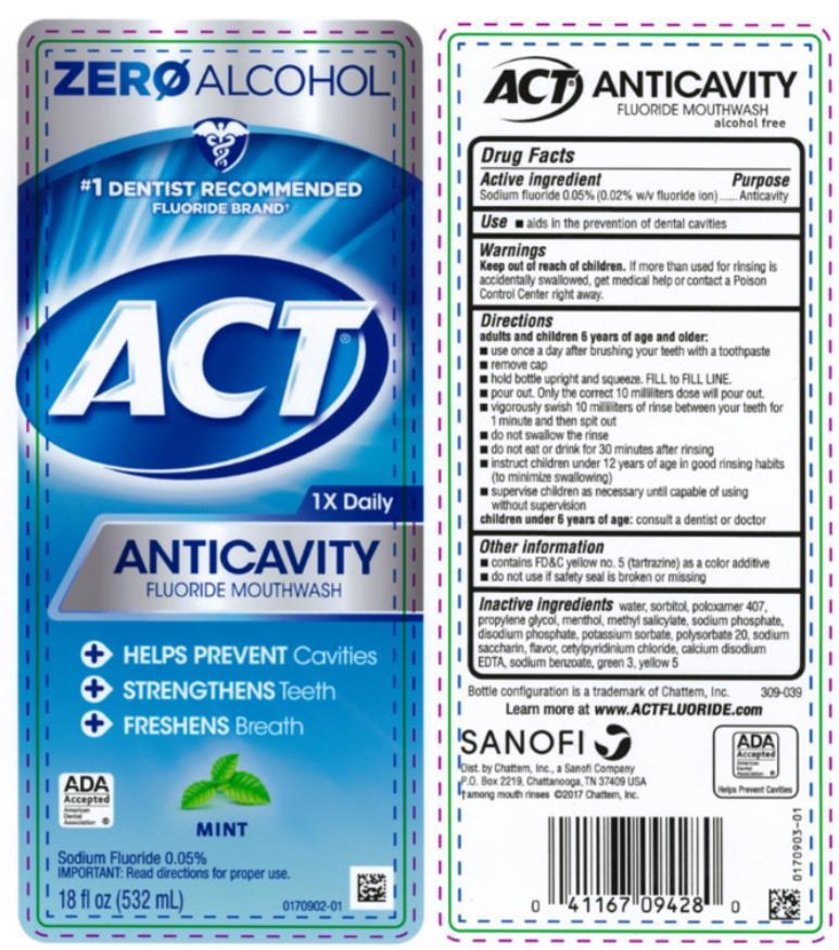 Act Anticavity Fluoride Mint (Sodium Fluoride) Rinse [Chattem, Inc.]